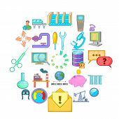 Economy Icons Set. Cartoon Set Of 25 Economy Vector Icons For Web Isolated On White Background poster