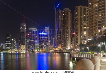 poster of Brisbane City Night Skyline