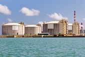 stock photo of lng  - LNG Tanks at the Port of Barcelona - JPG
