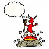cartoon devil appearing,
