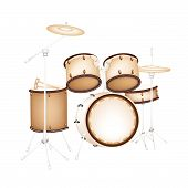 A Beautiful Drum Kit on White Background
