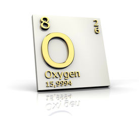 picture of periodic table elements  - Oxygen form Periodic Table of Elements  - JPG