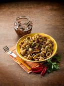 integral orecchiette with dried tomatoes
