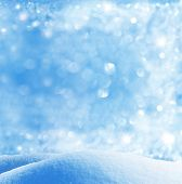 foto of snowy hill  - winter background - JPG