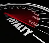 foto of loyalty  - Loyalty Speedometer Measure Customer Retention - JPG