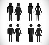 stock photo of inappropriate  - pictograms people Man Icon Sign Symbol Pictogram - JPG