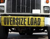 stock photo of oversize load  - Oversize Load truck - JPG