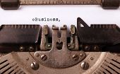 image of ebusiness  - Vintage inscription made by old typewriter eBusiness - JPG