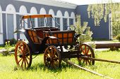 stock photo of ox wagon  - old oxen - JPG
