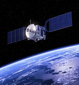 picture of starship  - Space Satellite Orbiting Earth - JPG