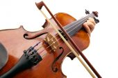foto of musical instrument string  - Photo violin made with the camera angle view violinist