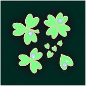picture of alfalfa  - stylized shamrock and four - JPG
