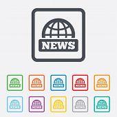 image of universal sign  - News sign icon - JPG