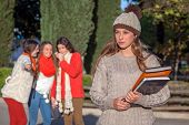 picture of school bullying  - bully teenagers - JPG