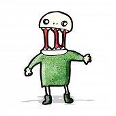 foto of ghoul  - spooky halloween ghoul - JPG