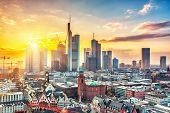 picture of frankfurt am main  - Frankfurt am Main at sunset - JPG