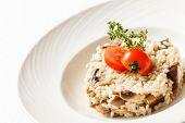 pic of portobello mushroom  - risotto with mushrooms - JPG