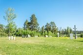 stock photo of cemetery  - Cemetery is the Central memorial to all who died in captivity on the territory of the Ivanovo region. On the cemetery are buried 444 prisoners of war of various nationalities: Germans Hungarians Italians Romanians