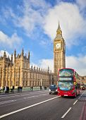 foto of westminster bridge  - Houses of Parliament and Westminster bridge in London - JPG