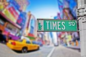 picture of broadway  - Times Square sign in New York City - JPG