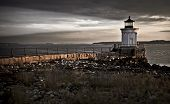 foto of water bug  - Bug Light Lighthouse on top of a rocky island slow exposure  - JPG