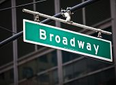 picture of broadway  - Broadway street sign in New York City - JPG