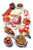 picture of buffet  - Tapas or antipasto food - JPG