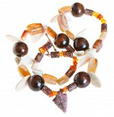 pic of agate  - necklace from mineral stones  - JPG