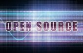 picture of open-source  - Open Source on a Tech Business Chart Art - JPG