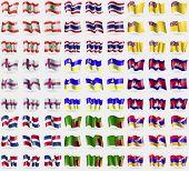 Постер, плакат: Lebanon Thailand Niue Faroe Islands Buryatia Cambodia Dominican Repbulic Zambia Karabakh Rep