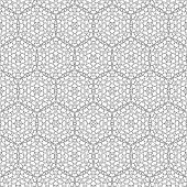 stock photo of primitive  - Primitive simple retro seamless pattern with lines and circles - JPG