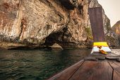 picture of phi phi  - majestic rock formation in phi phi island in the andaman sea Thailand - JPG