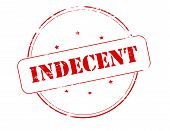 picture of racy  - Rubber stamp with word indecent inside vector illustration - JPG