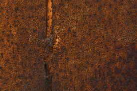 picture of rusty-spotted  - Texture of rusty metal - JPG