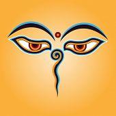 Постер, плакат: Будда глаза вектор