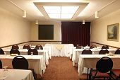 stock photo of training room  - shot of an upscale conference room - JPG