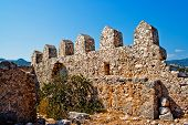 stock photo of nea  - Ancient ruins of Byzantine fortress in Burch bay nea Simena village - JPG