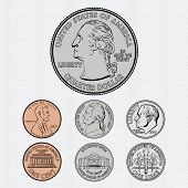 stock photo of copper coins  - Vector Coins  - JPG