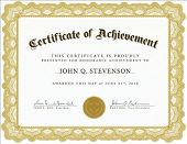 stock photo of certificate  - Vector certificate - JPG