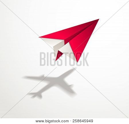 Paper Plane Casting Shadow Of