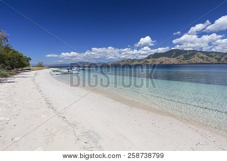 An Empty Beach In The