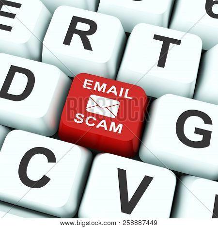 poster of Phishing Scam Email Identity Alert 3D Rendering