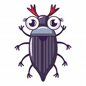 May Bug Icon. Cartoon Illustration Of May Bug Icon For Web poster