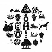 Wildlife Icons Set. Simple Set Of 25 Wildlife Vector Icons For Web Isolated On White Background poster