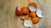 Cracked Eggs. Cracked Egg Shells. Broken Egg Shells poster