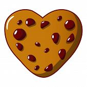 Tasty Cookie Icon. Cartoon Illustration Of Tasty Cookie Icon For Web poster