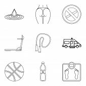 Wife Health Icons Set. Outline Set Of 9 Wife Health Icons For Web Isolated On White Background poster