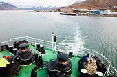 Expedition Ship On Longyearbyen Coast - Svalbard poster