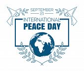 International Peace Day Logo Design. International Day Of Peace. World Peace Day. September 21. Vect poster