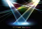 picture of laser beam  - Vector Stage Spotlight with Laser rays - JPG